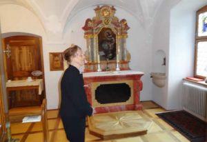 Ein Blick in die private Kapelle des Abtes.