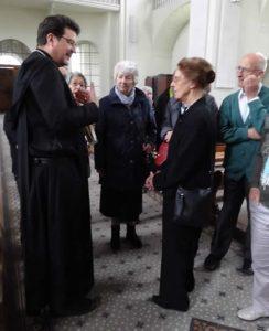 im Gespräch mit Abt Christian