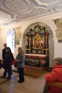 Der ehemalige Kapitel-Saal dient heute als Sakristei.