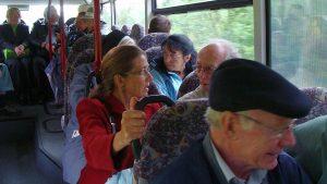 Und schon wieder im Bus und auf dem Heimweg!