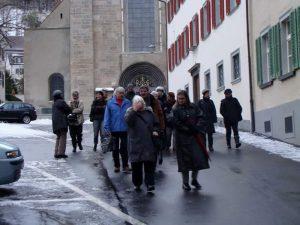 Auf dem Weg zur Hofkellerei (im Hintergrund die Kathedrale)
