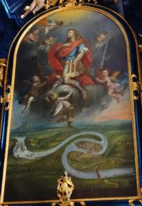 Bild über einem der Seitenaltäre