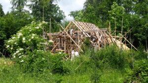 Baustelle - die Scheune soll bis Ende Sommer fertig sein